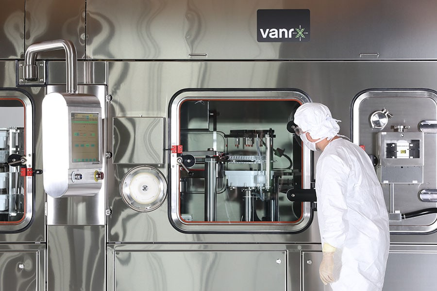Vanrx aseptic filling workcells were designed around the ideas of containment and production efficiency.