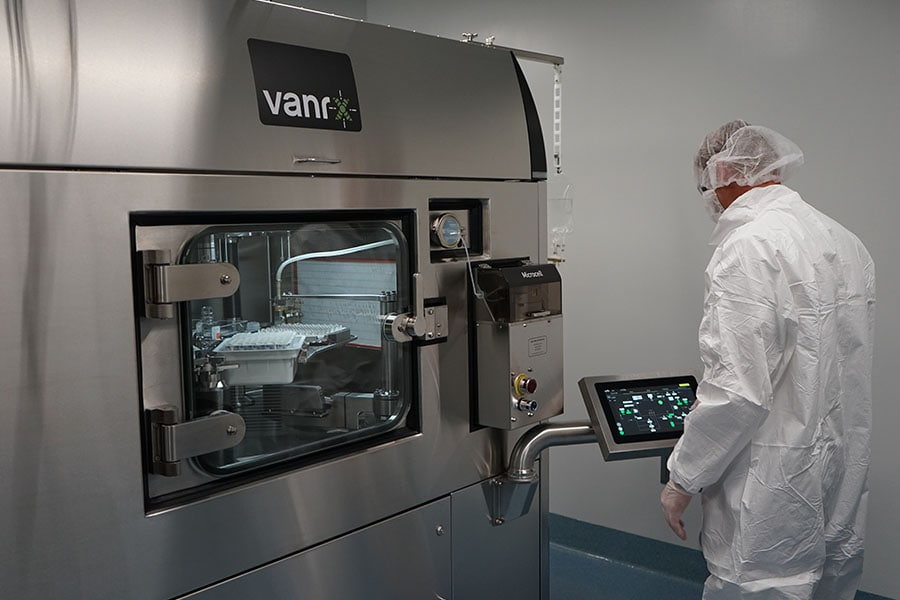 Vanrx vial filling machines are standardized, automated and gloveless with less risk of contamination.