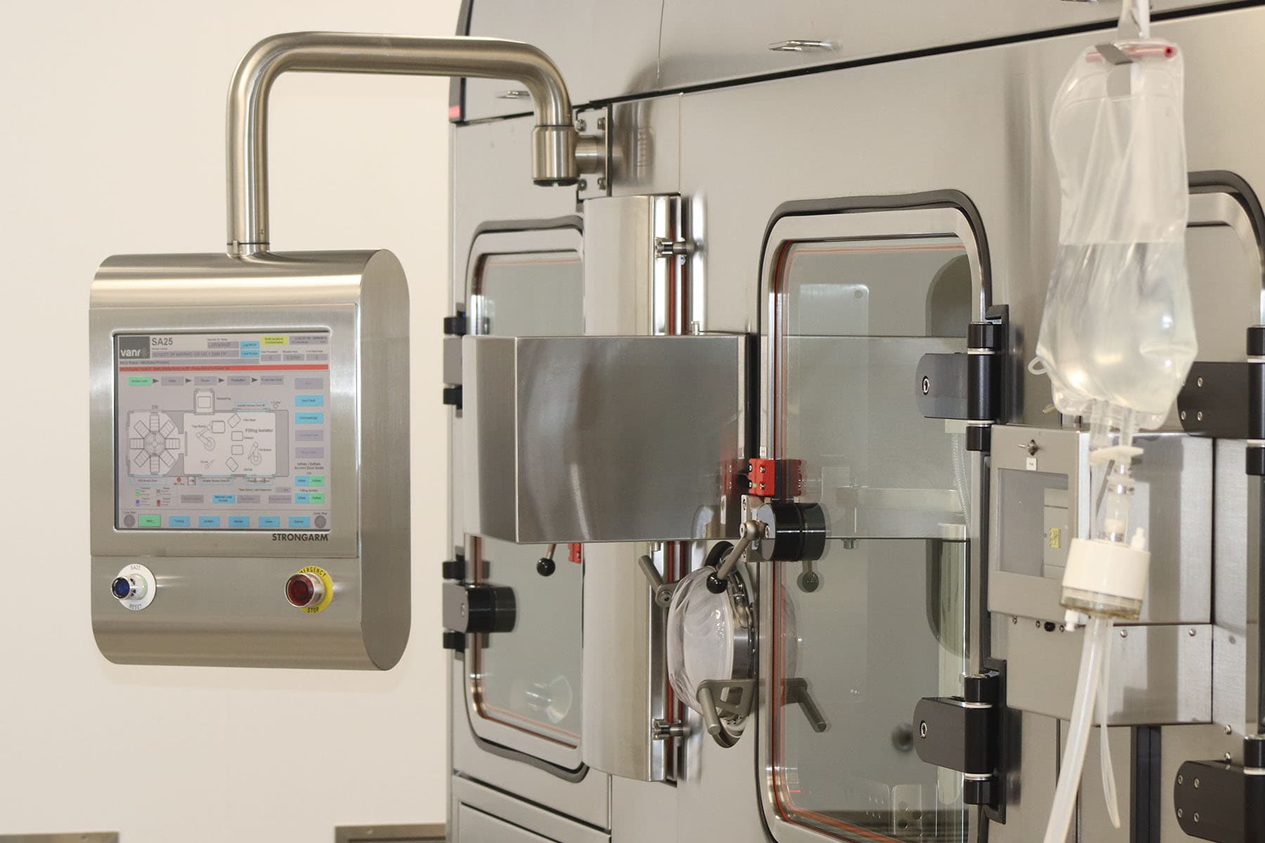 The SA25's HMI provides easy access to all process controls, recipes and batch data.