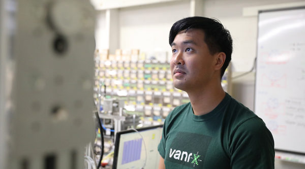 R&D Controls Engineer Daniel Liaw developing a new aseptic filling technology