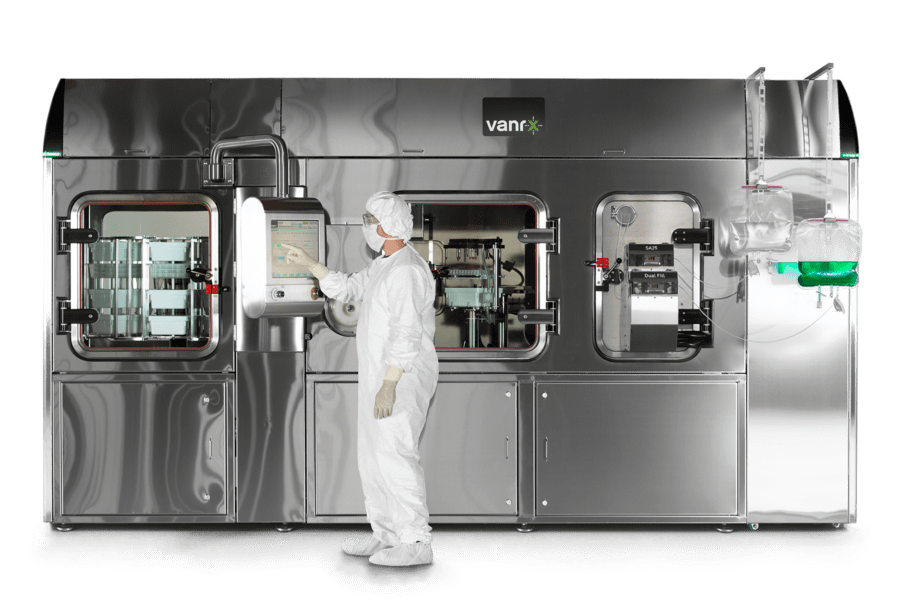 The SA25 Dual Chamber Aseptic Filling Workcell provides accurate filling for liquid-liquid dual chamber syringes and cartridges.