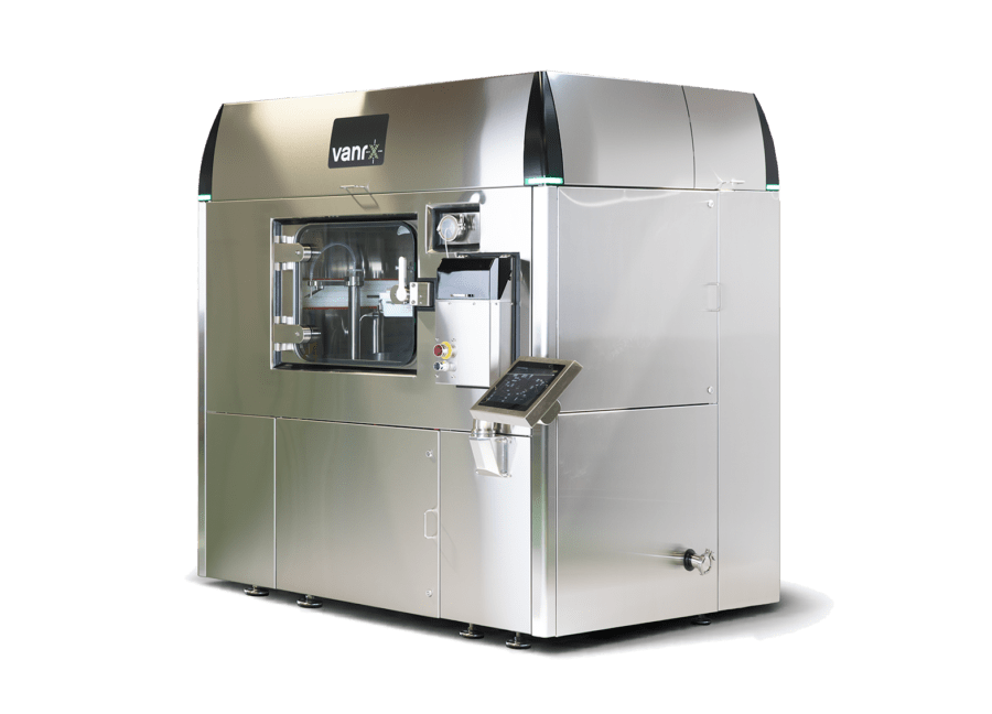 The Microcell Vial Filler is a vial filling machine used to manufacture personalized medicines and perform drug development.