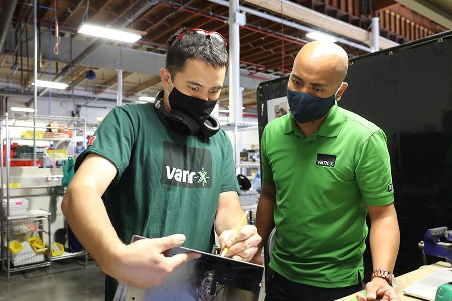 Vanrx technicians are experts in biopharmaceutical manufacturing.